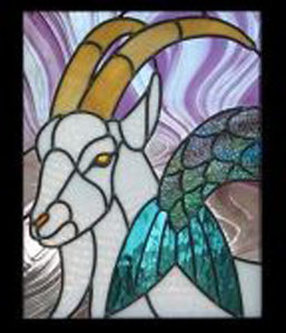 Stained glass goat